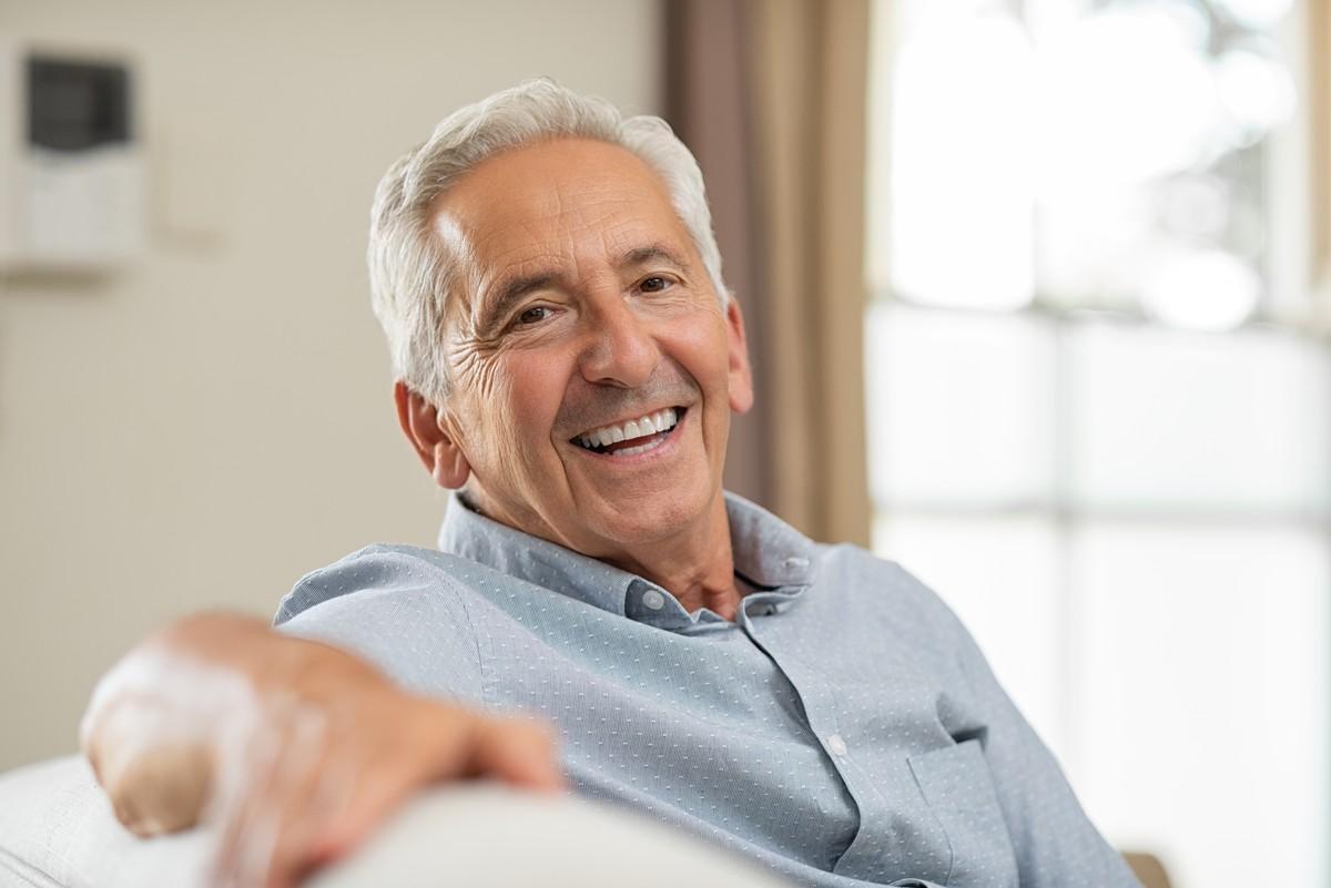 Elder person smiling